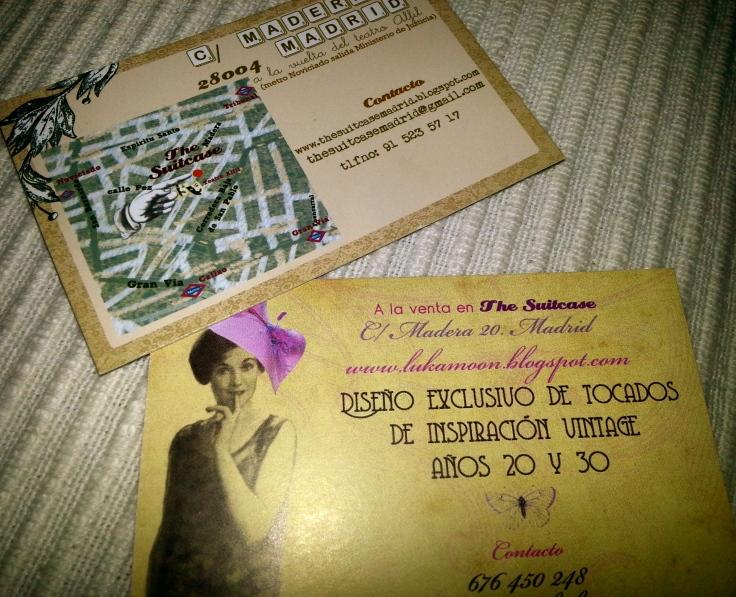 The Suitecase tarjetas visita dirección