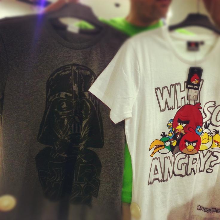 camiseta Darth Vader y angry birds