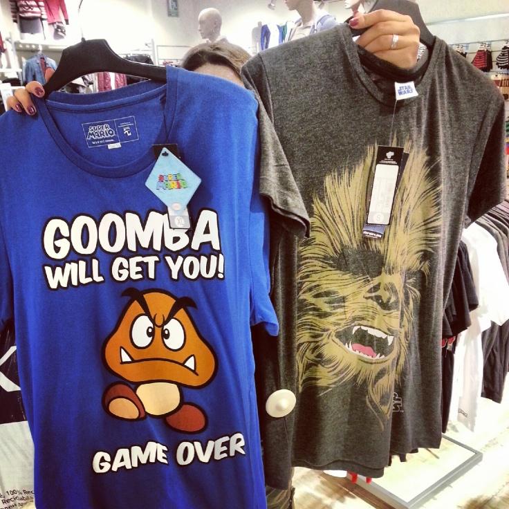 camiseta Mario y Chewbacca
