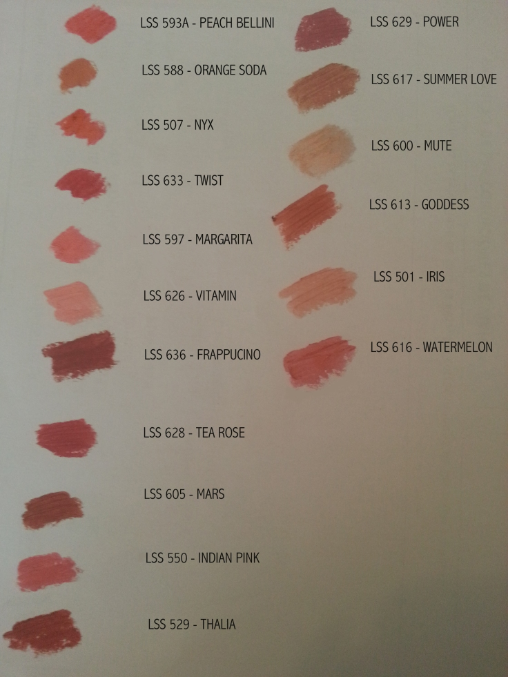 SWATCHES NYX COLORES